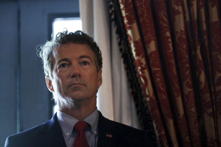 Republican presidential candidate Senator Rand Paul (R-KY) (Photo by Carlos Barria/Reuters).