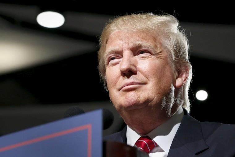 U.S. Republican presidential candidate Donald Trump holds a campaign event in Phoenix (Photo by Nancy Wiechec/Reuters).