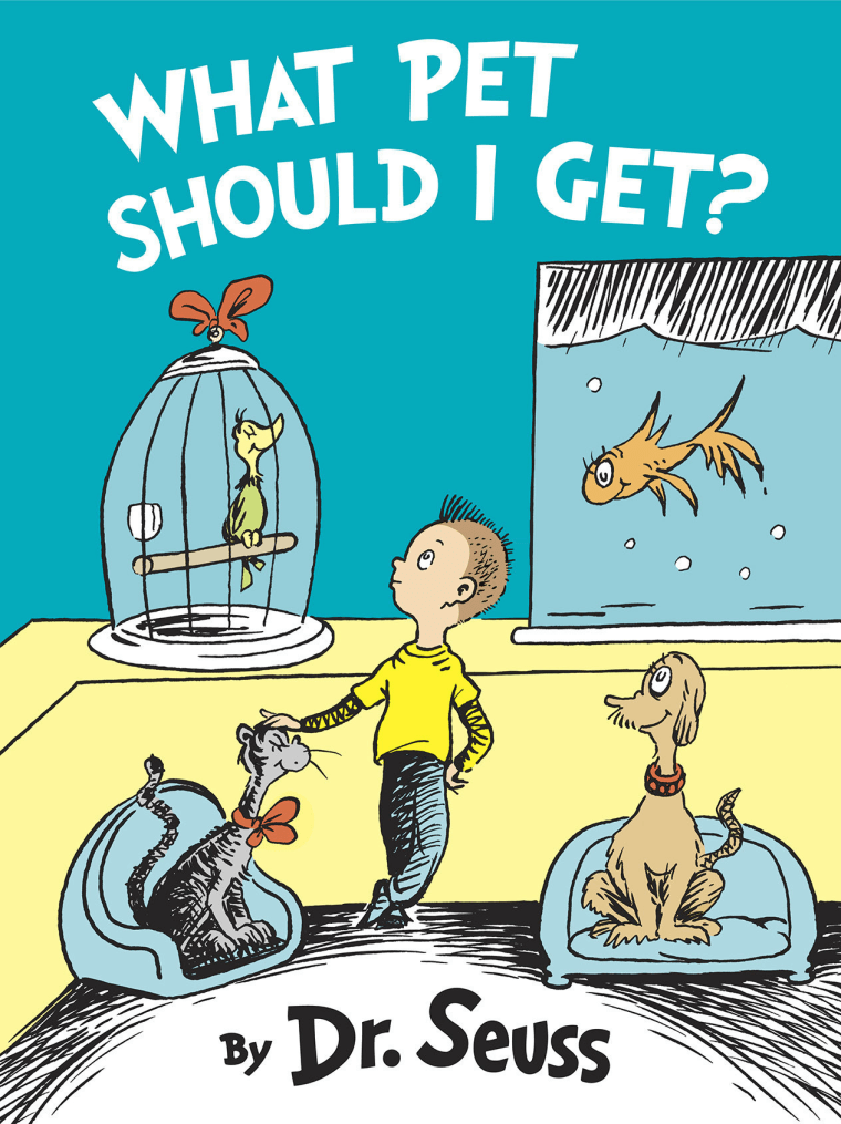 """Cover for New Dr. Seuss Book \""""What Pet Should I Get?\"""" to be published on Jul. 28, 2015 (Photo by PRNewsFoto/Random House Children's Books)."""