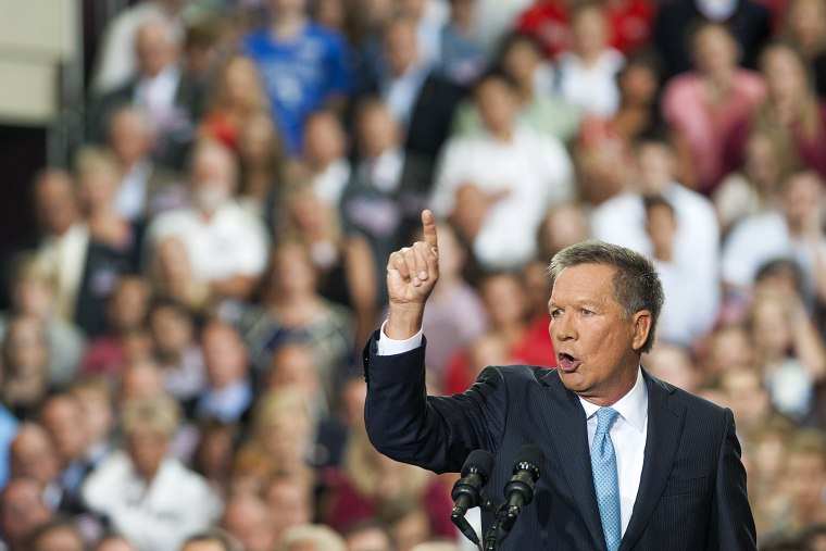 Ohio Governor John Kasich gives his speech announcing his 2016 Presidential candidacy at The Ohio State University on July 21, 2015 in Columbus, Ohio. (Photo by Ty Wright/Getty)