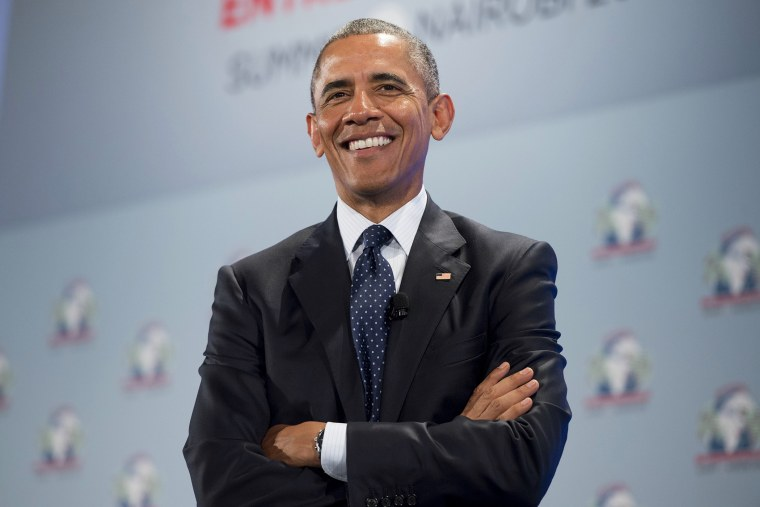 US President Barack Obama attends the Global Entrepreneurship Summit at the United Nations Compound in Nairobi on July 25, 2015. (Photo by Saul Loeb/AFP/Getty)