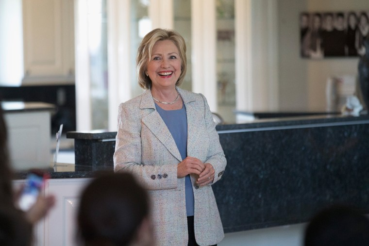 Hillary Clinton Brings Her Presidential Campaign Back To Iowa (Photo by Scott Olson/Getty).