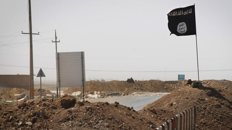 A flag of the Islamic State (ISIS) (Photo by JM Lopez/AFP/Getty).