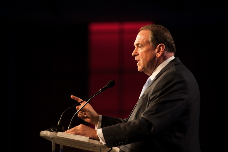 Mike Huckabee speaks during the Western Conservative Summit at the Colorado Convention Center on June 27, 2015 in Denver, Colorado. (Photo by Theo Stroomer/Getty)