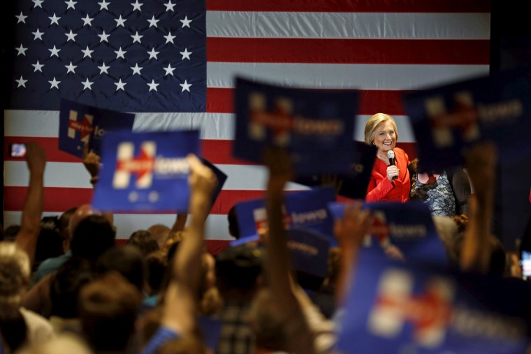 U.S. Democratic presidential candidate Hillary Clinton speaks at a campaign rally in Cedar Rapids, Iowa, July 17, 2015. (Photo by Jim Young/Reuters)