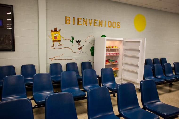 The Karnes County Residential Center which houses mother and child ICE (Immigration and Customs Enforcement) detainees is pictured here (Photo by Drew Anthony Smith/Getty).