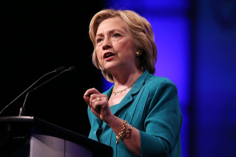 Democratic Presidential hopeful and former Secretary of State Hillary Clinton speaks on July 31, 2015 in Fort Lauderdale, Fla. (Photo by Joe Raedle/Getty)