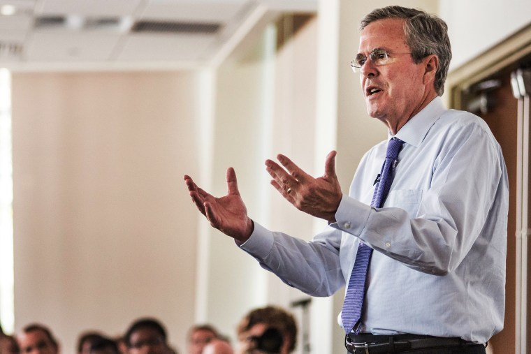 Republican presidential candidate and former Florida Gov. Jeb Bush (