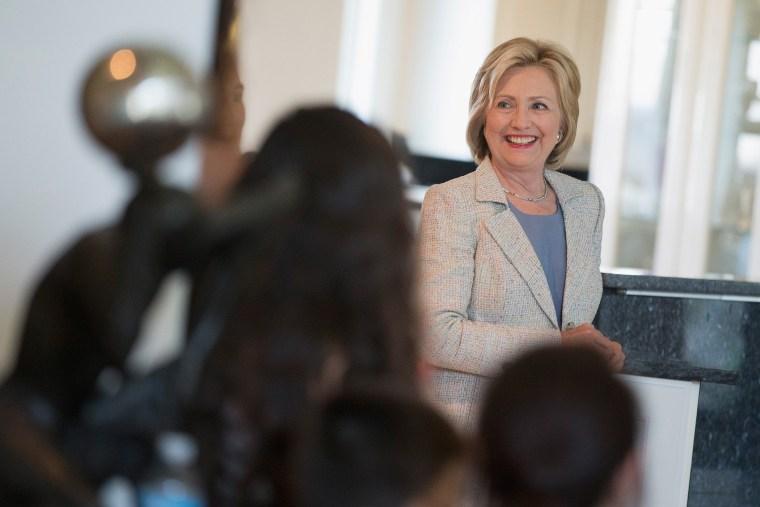 Democratic presidential hopeful and former Secretary of State Hillary Clinton (Photo by Scott Olson/Getty).