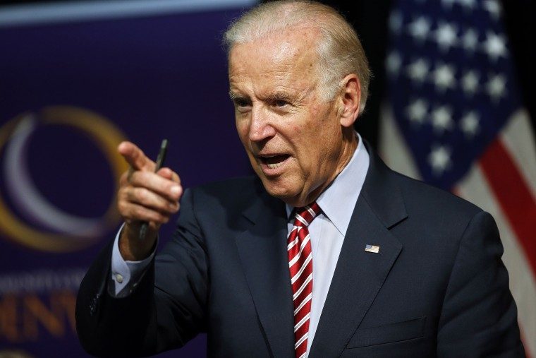 Vice President Joe Biden speaks during a roundtable discussion at the Advanced Manufacturing Center at Community College of Denver on July 21, 2015. (Photo by Brennan Linsley/AP)