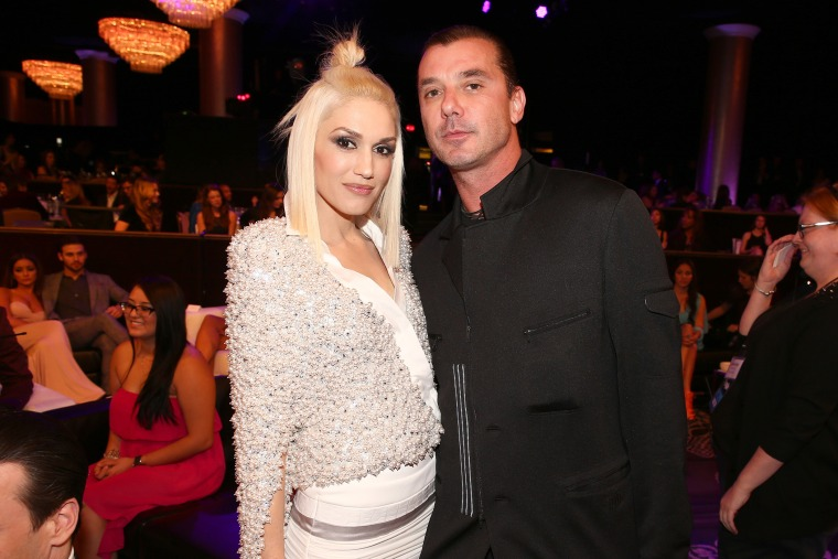 Recording artists Gwen Stefani and Gavin Rossdale attend the PEOPLE Magazine Awards at The Beverly Hilton Hotel on Dec. 18, 2014 in Beverly Hills, Calif. (Photo by Chris Polk/PMA2014/DCP/Getty)