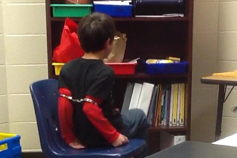 An 8-year-old disabled student was handcuffed for misbehaving, a federal lawsuit claims. (Photo courtesy of ACLU)