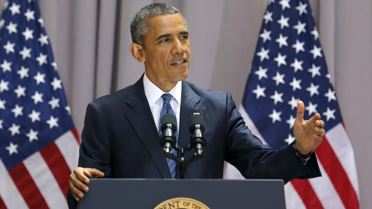U.S. President Barack Obama delivers remarks on a nuclear deal with Iran at American University in Washington, D.C. on Aug. 5, 2015 (Photo by Jonathan Ernst/Reuters).