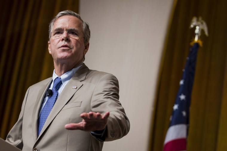 Jeb Bush, former governor of Florida and 2016 Republican presidential candidate (Photo by Drew Angerer/Bloomberg/Getty).