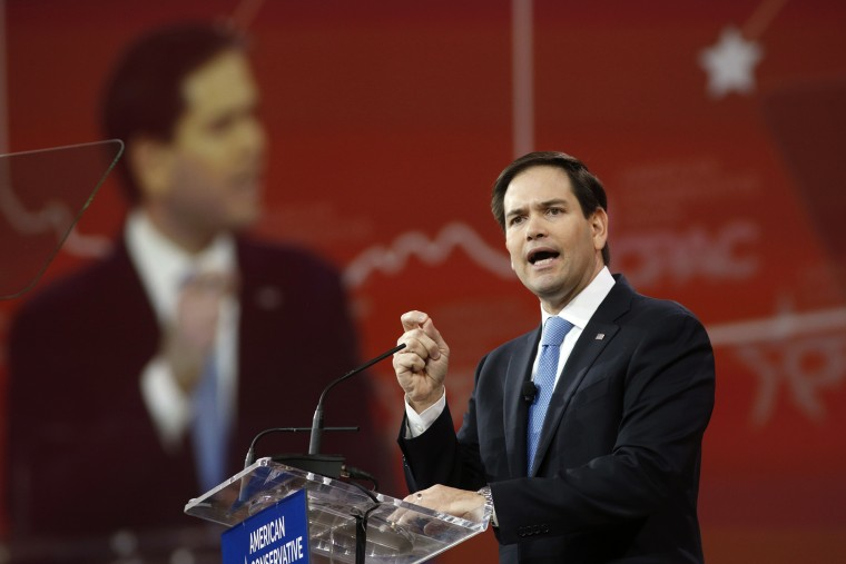 Florida Senator Marco Rubio speaks in Maryland on Feb. 27, 2015 (Photo by Kevin Lamarque/Reuters).