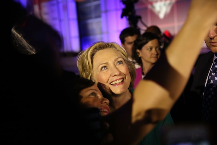 Democratic Presidential hopeful and former Secretary of State Hillary Clinton (Photo by Joe Raedle/Getty).