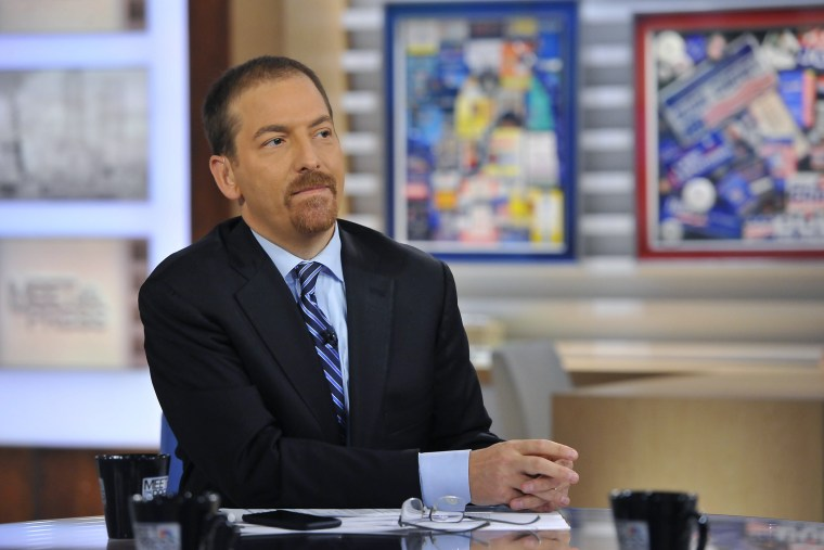 "Chuck Todd appears on ""Meet the Press"" in Washington, D.C. on Oct. 19, 2014. (Photo by William B. Plowman/NBC/NBCU Photo Bank/Getty)"