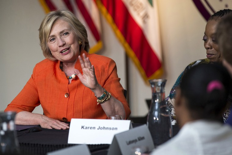 Democratic presidential candidate Hillary Clinton speaks at a Service Employees International Union roundtable on Home Care at Los Angeles Trade-Technical College in Los Angeles, Calif. on August 6, 2015. (Photo by Mario Anzuoni/Reuters)