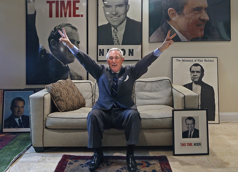 Roger Stone, pictured at his office in Fort Lauderdale, Fla., is a veteran Republican political operative with a reputed skill for dirty tricks. (Photo by Carl Juste/Miami Herald/Getty)