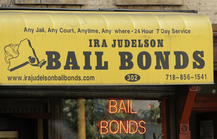 A bail bonds business in Brooklyn, N.Y., July 7, 2015. Officials say they're eliminating cash bail for thousands of New Yorkers accused of misdemeanor and non-violent felonies in an effort to divert them from Rikers. (Photo by Kathy Willens/AP)