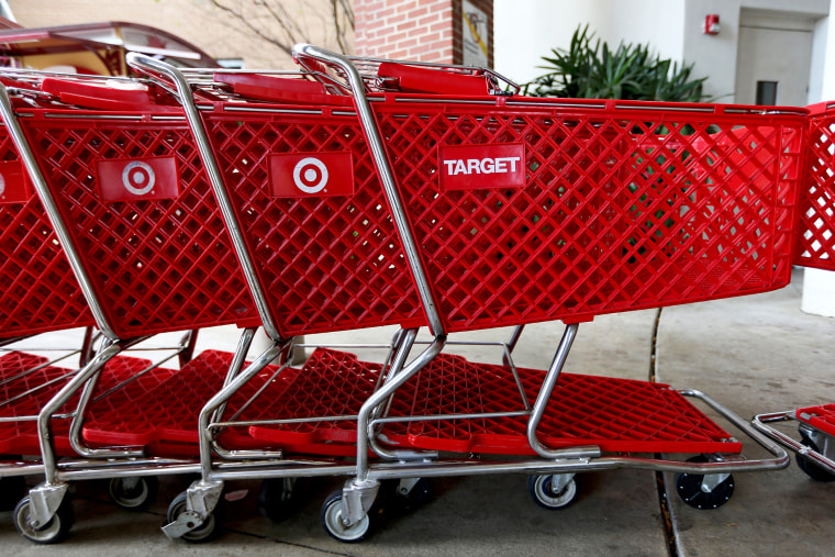 Carts are seen outside of a Target store in Miami, Florida. (Photo by Joe Raedle/Getty)