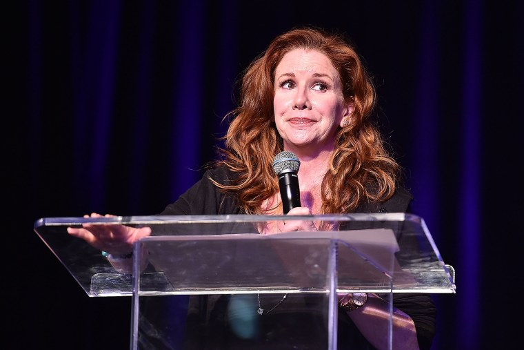 Actress Melissa Gilbert onstage at the Atlanta Ultimate Women's Expo. (Photo by Paras Griffin/Getty)