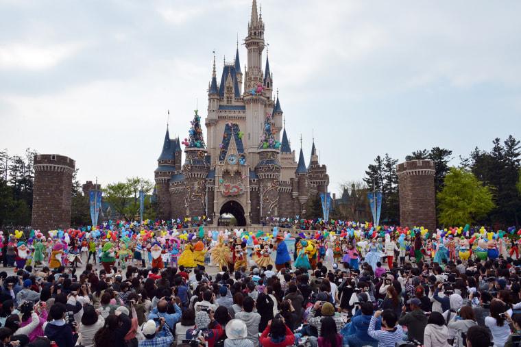 Disney theme park in Urayasu, suburban Tokyo on April 15, 2013. (Photo by Yoshikazu Tsuno/AFP/Getty)
