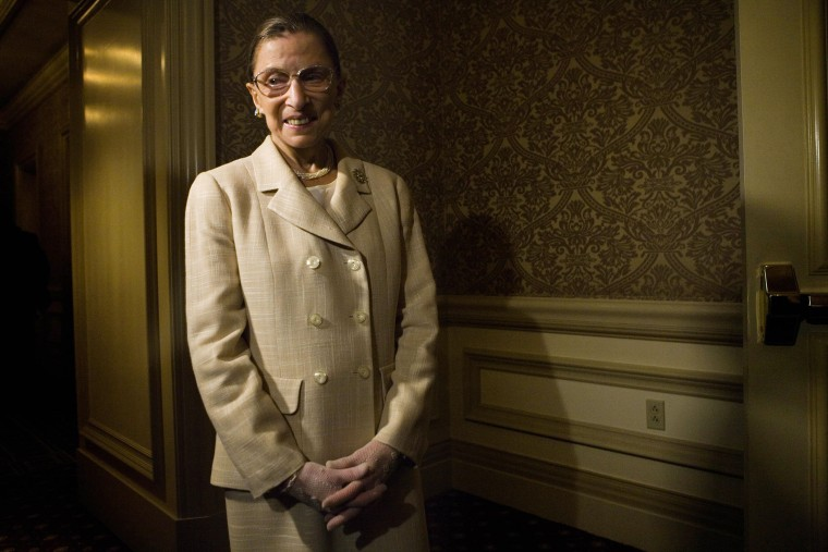 Supreme Court Justice Ruth Bader Ginsburg in Washington, D.C. May 8, 2006 (Photo by Brendan Smialowski/Getty).