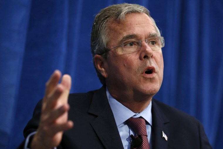 U.S. Republican presidential candidate Jeb Bush speaks at a campaign stop in Davenport, Iowa. (Photo by Jim Young / Reuters)