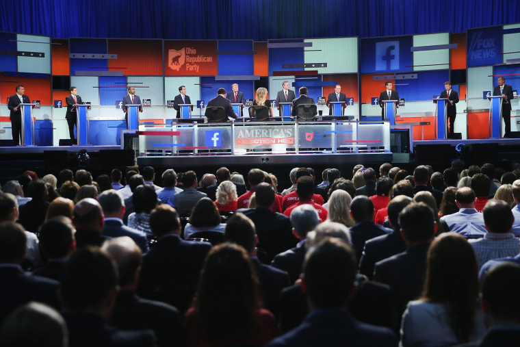 Top-Polling GOP Candidates Participate In First Republican Presidential Debate (Photo by Scott Olson/Getty).