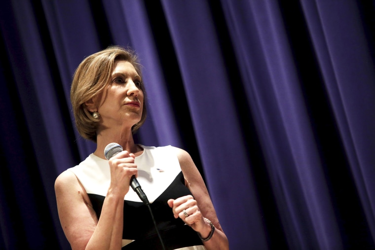 Republican presidential candidate Carly Fiorina speaks during a campaign event at the Jewish Federation of Greater Des Moines in Waukee, Iowa, Aug. 16, 2015. (Photo by Joshua Lott/Reuters)