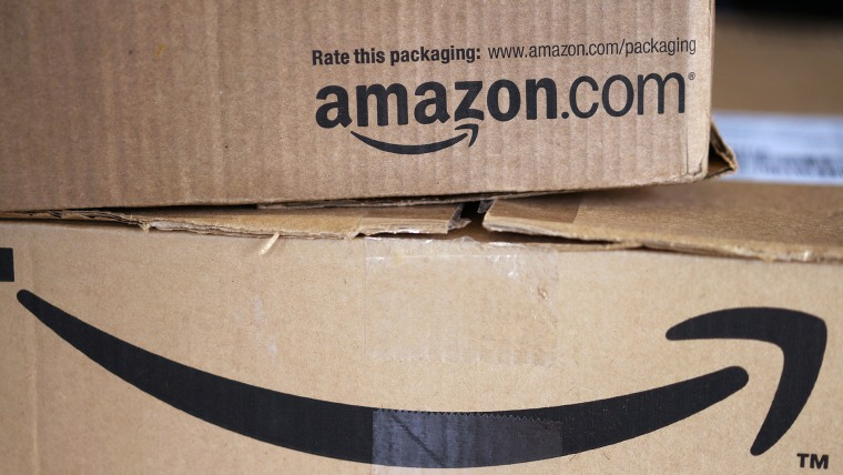 Two freshly delivered Amazon boxes are seen on a counter in Golden, Colorado August 27, 2014. (Photo by Rick Wilking/Reuters)