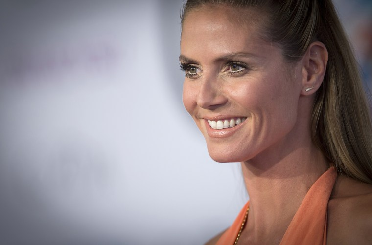 Model Heidi Klum arrives for the Council of Fashion Designers of America Awards (CFDA) at Lincoln Center in New York