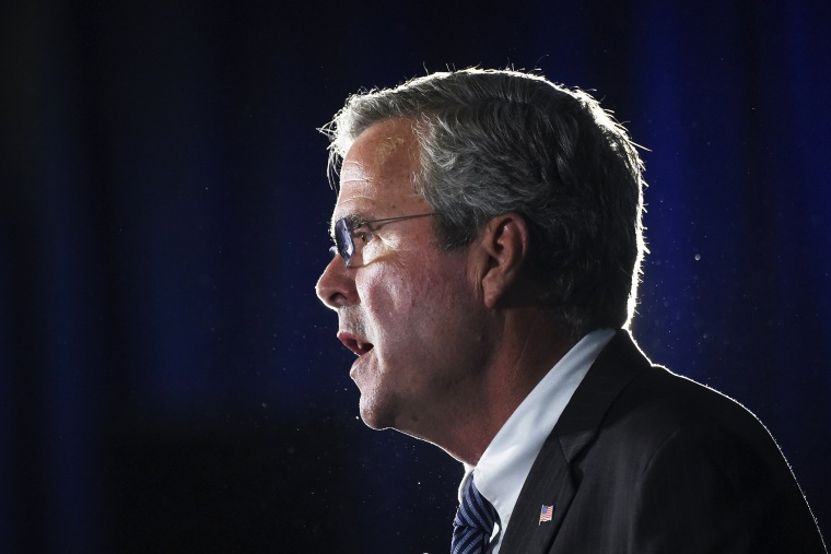 Republican presidential candidate, former Florida Gov. Jeb Bush speaks during a town hall meeting on Aug. 17, 2015, in Columbia, S.C. (Photo by Rainier Ehrhardt/AP)