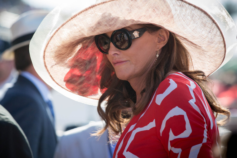 Caitlyn Jenner at The Del Mar Thoroughbred Club. (Photo by Photo by: Joel Mark/Star Max/IPx/AP)