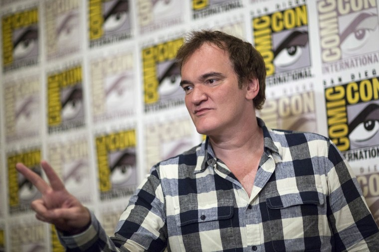 """Director Quentin Tarantino poses at a press line for his new film, """"The Hateful Eight"""", during the 2015 Comic-Con International Convention in San Diego, Calif., July 11, 2015. (Photo by Mario Anzuoni/Reuters)"""