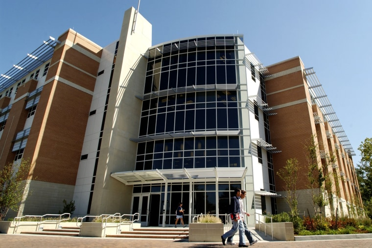 The front of Old Dominion University's Engineering and Computational Sciences Building on Sept. 22, 2005. (Photo by Stephen M. Katz/The Virginian Pilot/AP)