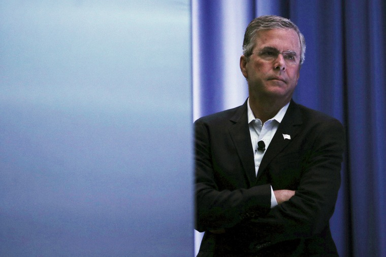 U.S. Republican presidential candidate Jeb Bush in Londonderry, New Hampshire August 19, 2015. (Photo by Brian Snyder/Reuters)