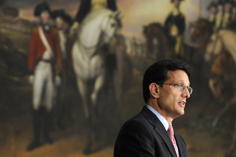 House Majority Leader Eric Cantor of Va. speaks during a ceremony on July 9, 2014, on Capitol Hill in Washington DC. (Photo by Susan Walsh/AP)