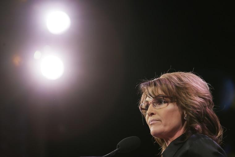 Former Alaska Gov. Sarah Palin speaks during the Freedom Summit, Jan. 24, 2015, in Des Moines, Iowa. (Photo by Charlie Neibergall/AP)