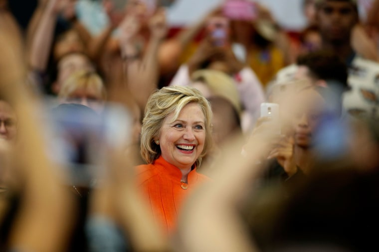 Democratic presidential candidate and former U.S. Secretary of State Hillary Clinton delivers remarks during a campaign stop at Dr. William U. Pearson Community Center on Aug. 18, 2015 in North Las Vegas, Nev. (Photo by Isaac Brekken/Getty)