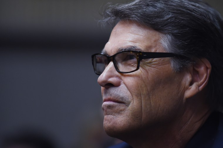 Republican presidential candidate, former Texas Gov. Rick Perry looks on during a campaign stop at Anderson Christian School on Aug. 13, 2015, in Anderson, S.C. (Photo by Rainier Ehrhardt/AP)