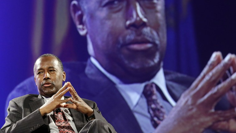 Republican presidential candidate Ben Carson speaks at the National Sheriffs' Association presidential forum on June 30, 2015, in Baltimore, Md. (Photo by Patrick Semansky/AP)