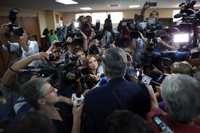 Republican presidential candidate and former Florida Governor Jeb Bush speaks to the media after holding a town hall style meeting on September 1, 2015 in Miami, Fla. (Photo by Joe Raedle/Getty)