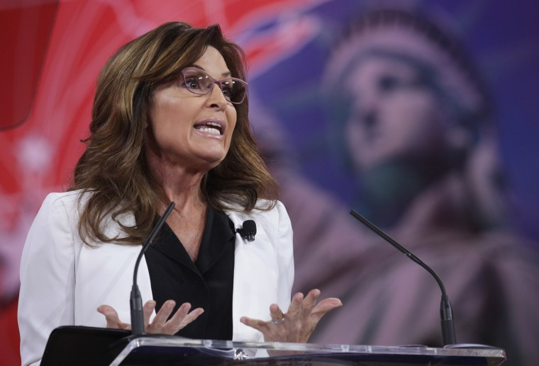 Former Alaska Governor Sarah Palin addresses the 42nd annual Conservative Political Action Conference (CPAC) Feb. 26, 2015 in National Harbor, Md. (Photo by Alex Wong/Getty)