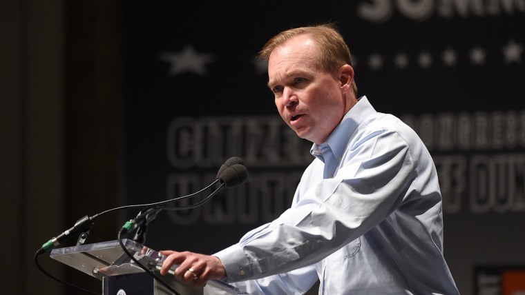 U.S. Rep. Mick Mulvaney, R-S.C., speaks at the Freedom Summit, Saturday, May 9, 2015, in Greenville, S.C. (Photo by Rainier Ehrhardt/AP)