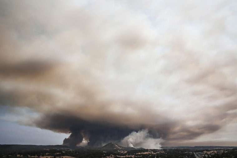Butte Fire from afar on Sept. 10 at noon, in Amador County, California. (Photo by Shannon Prieto/YubaNet.com)