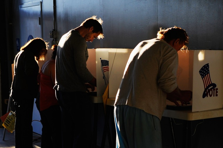 Voters cast their ballots for the midterm elections on Nov. 2, 2010 in Los Angeles, Calif. (Photo by Kevork Djansezian/Getty)
