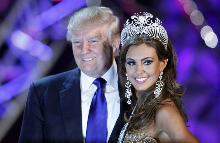 Erin Brady poses with Donald Trump, then-co-owner of the Miss Universe Organization, at a news conference after being crowned Miss USA 2013 at the Planet Hollywood Resort and Casino in Las Vegas, Nev., June 16, 2013. (Photo by Steve Marcus/Reuters)