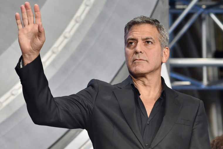 "Actor George Clooney attends the Tokyo premiere of ""Tomorrowland"" at Roppongi Hills on May 25, 2015 in Tokyo, Japan. (Photo by Atsushi Tomura/Getty)"